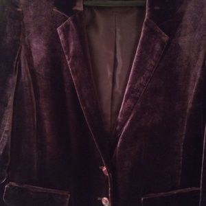 Halogen Jackets & Coats - Halogen Purple Velvet Blazer Medium